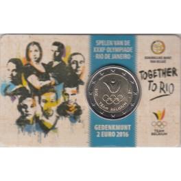 "2€ Bélgica 2016 ""Equipo Olímpico de Bélgica"""