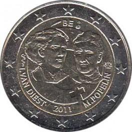 """2€ Bélgica 2011 """"Día Internacional de la Mujer"""""""