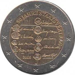 "2€ Austria 2005 ""Tratado de Estado de Austria"""