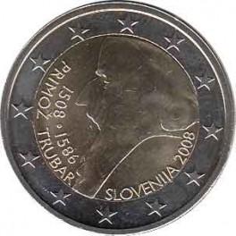 """2€ Eslovenia 2008 """"Primož Trubar"""""""
