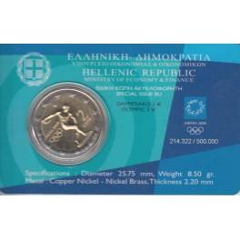 """Coincard 2€ Grecia 2004 """"Juegos Olímpicos de Atenas"""""""
