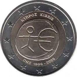 """2€ Chipre 2009 """"Aniversario Unión Económica y Monetaria"""""""
