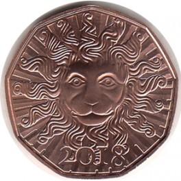 5€ Austria cobre 2018 1ª