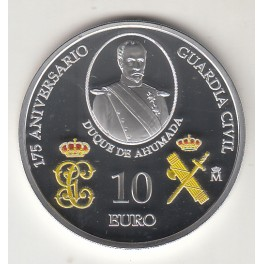 "10€ ESPAÑA 2019 ""175aniv GUARDIA CIVIL"""