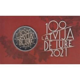 2€ LETONIA COINCARD 2021