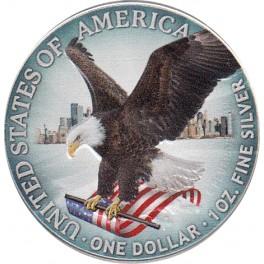 1 Oz DOLLAR USA (coloreada)